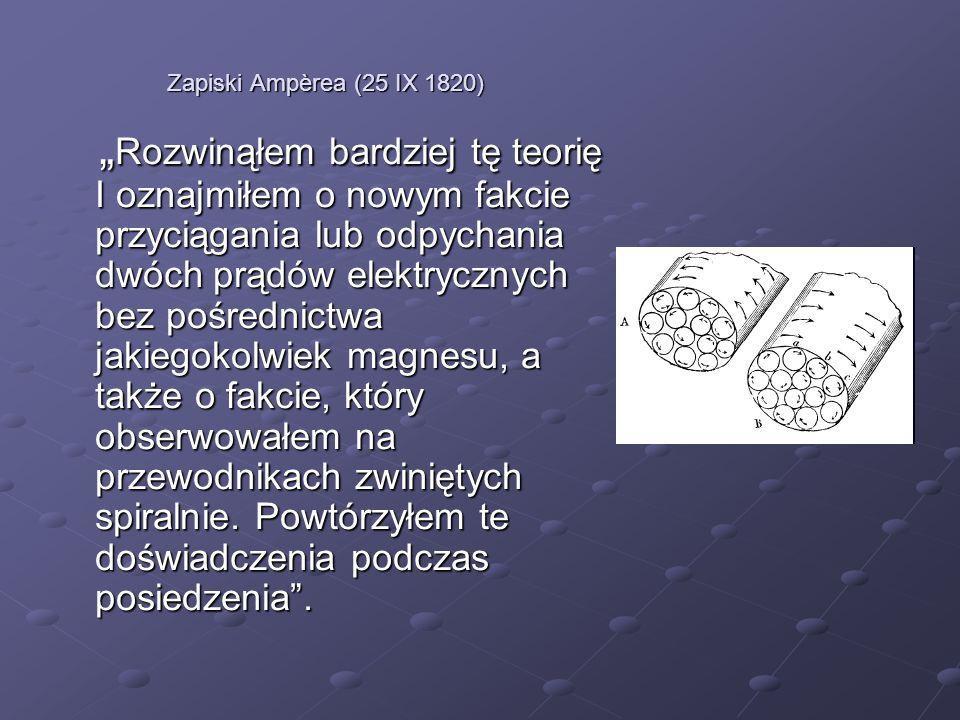 Zapiski Ampèrea (25 IX 1820)