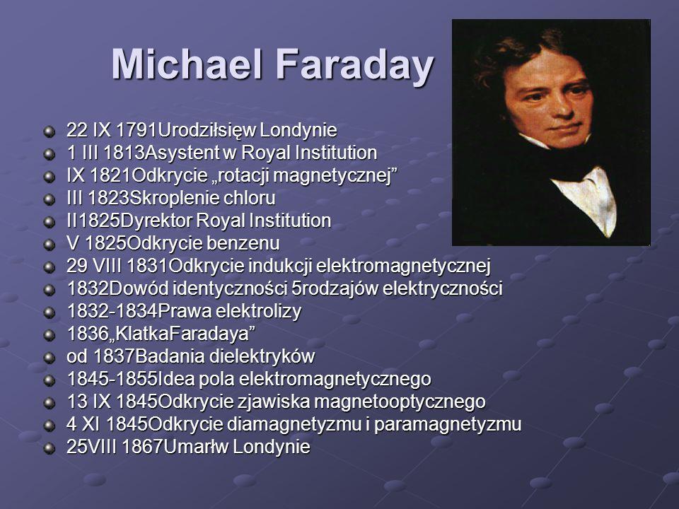 Michael Faraday 22 IX 1791Urodziłsięw Londynie