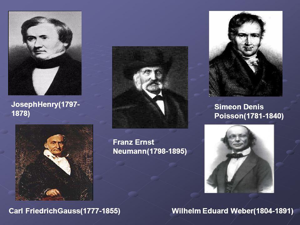 JosephHenry(1797-1878) Simeon Denis Poisson(1781-1840) Franz Ernst Neumann(1798-1895) Carl FriedrichGauss(1777-1855)