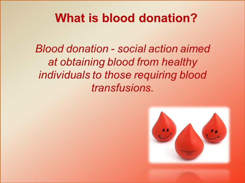 What is blood donation.