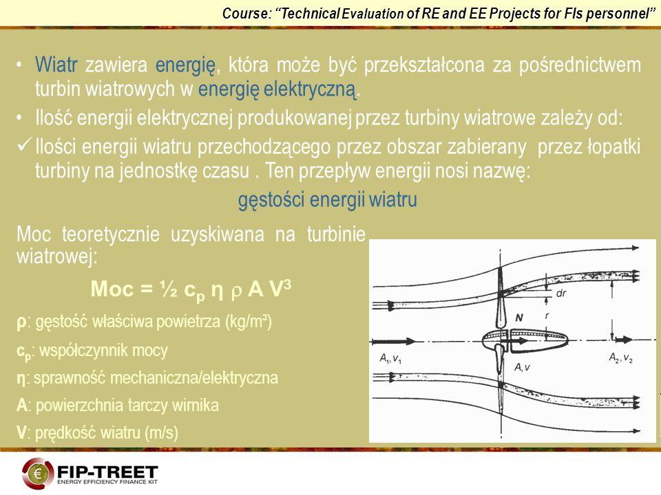 gęstości energii wiatru