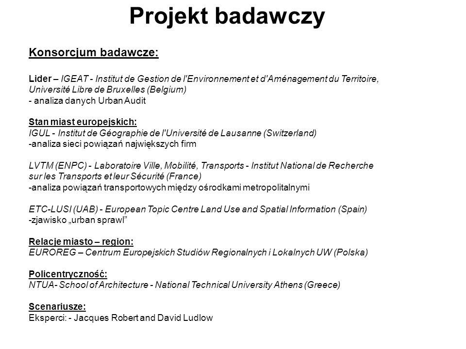 Projekt badawczy Konsorcjum badawcze: