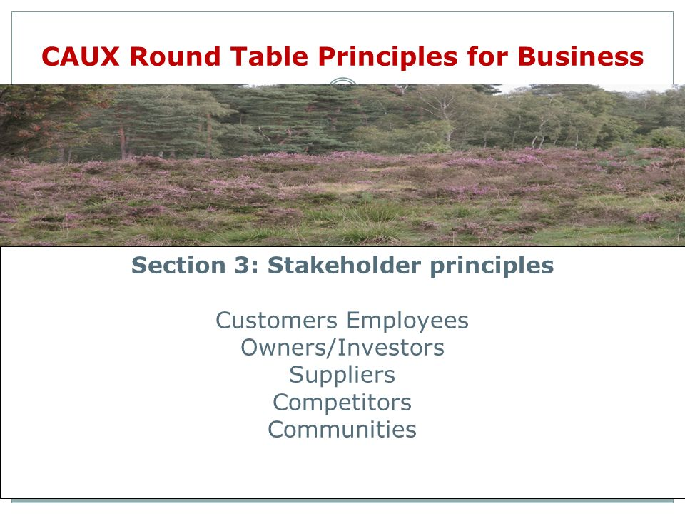 CAUX Round Table Principles for Business