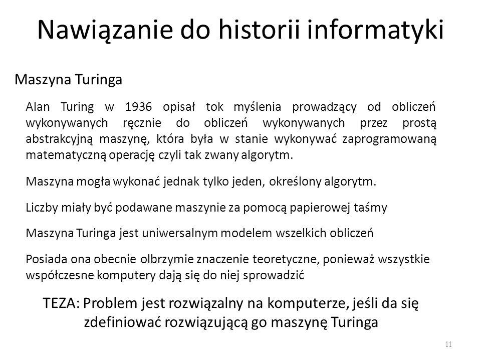 Nawiązanie do historii informatyki