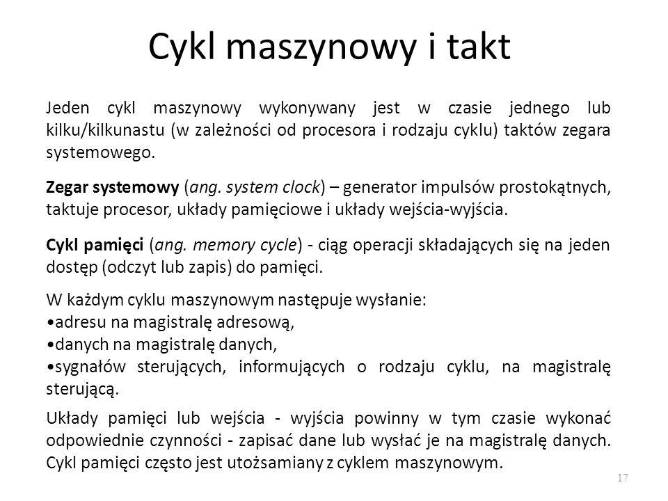 Cykl maszynowy i takt