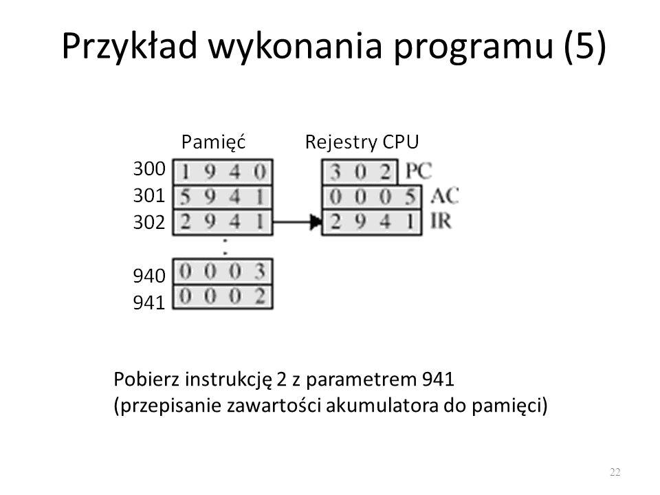Przykład wykonania programu (5)