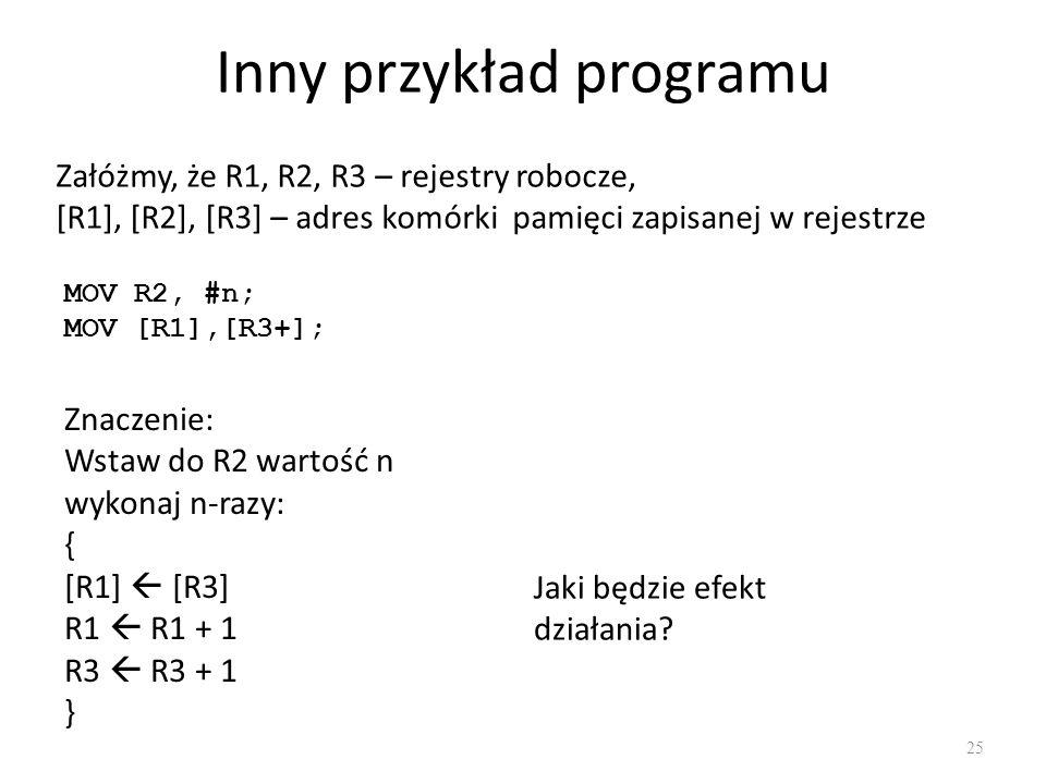 Inny przykład programu