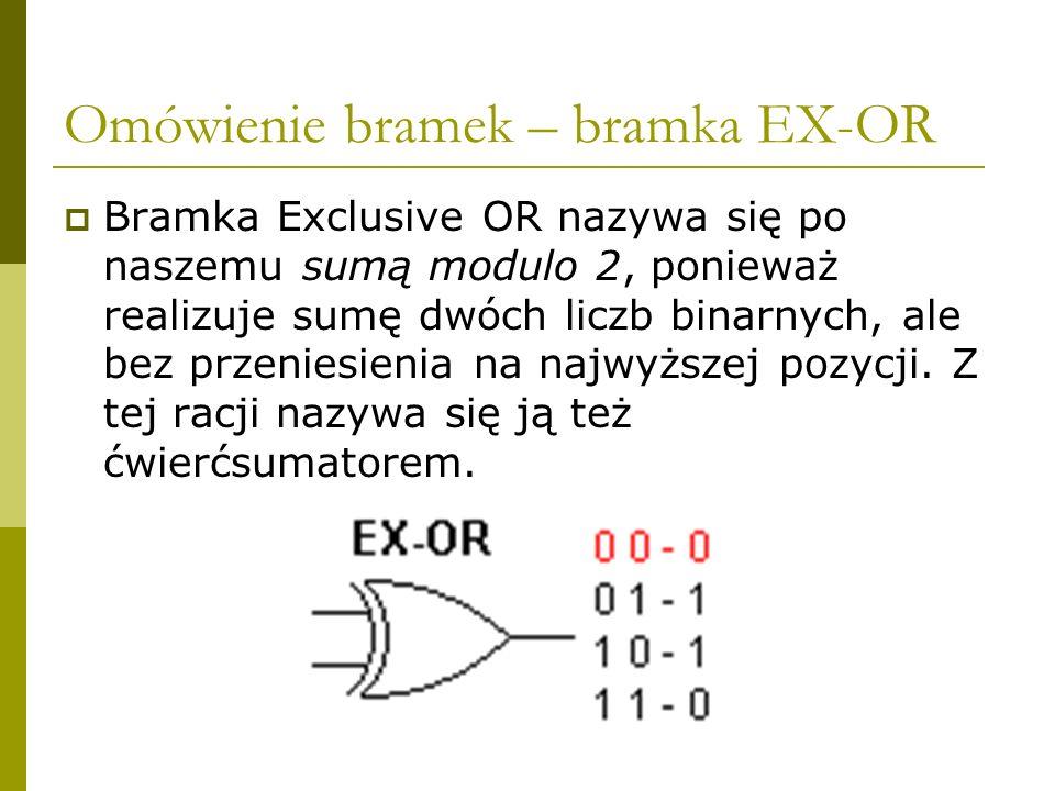 Omówienie bramek – bramka EX-OR