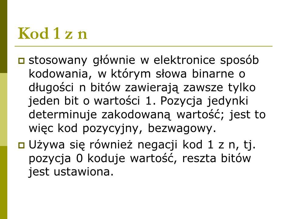 Kod 1 z n