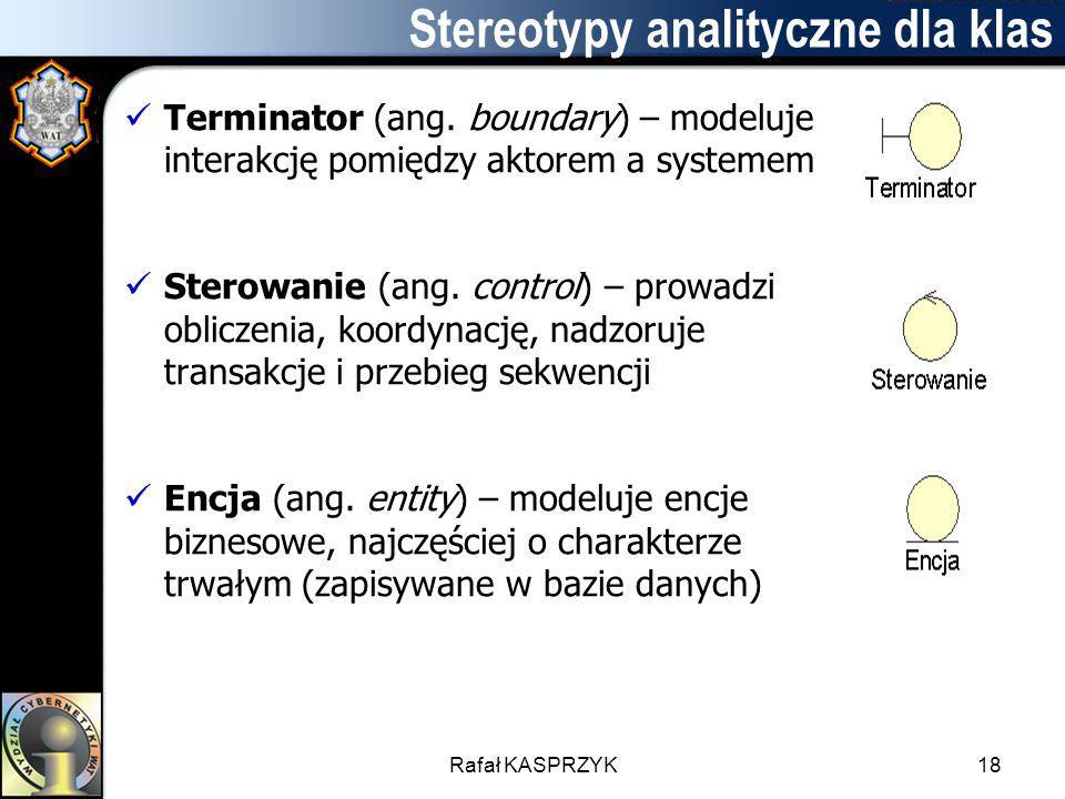 Stereotypy analityczne dla klas