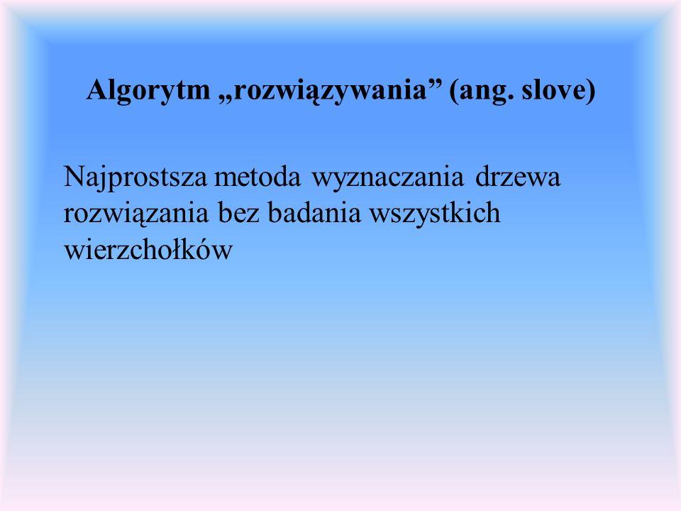 """Algorytm """"rozwiązywania (ang. slove)"""