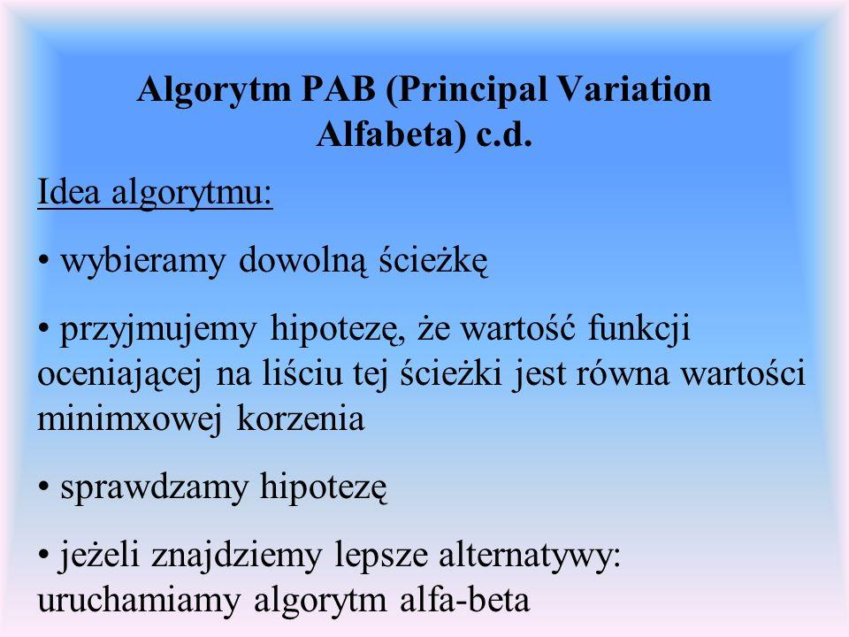 Algorytm PAB (Principal Variation Alfabeta) c.d.