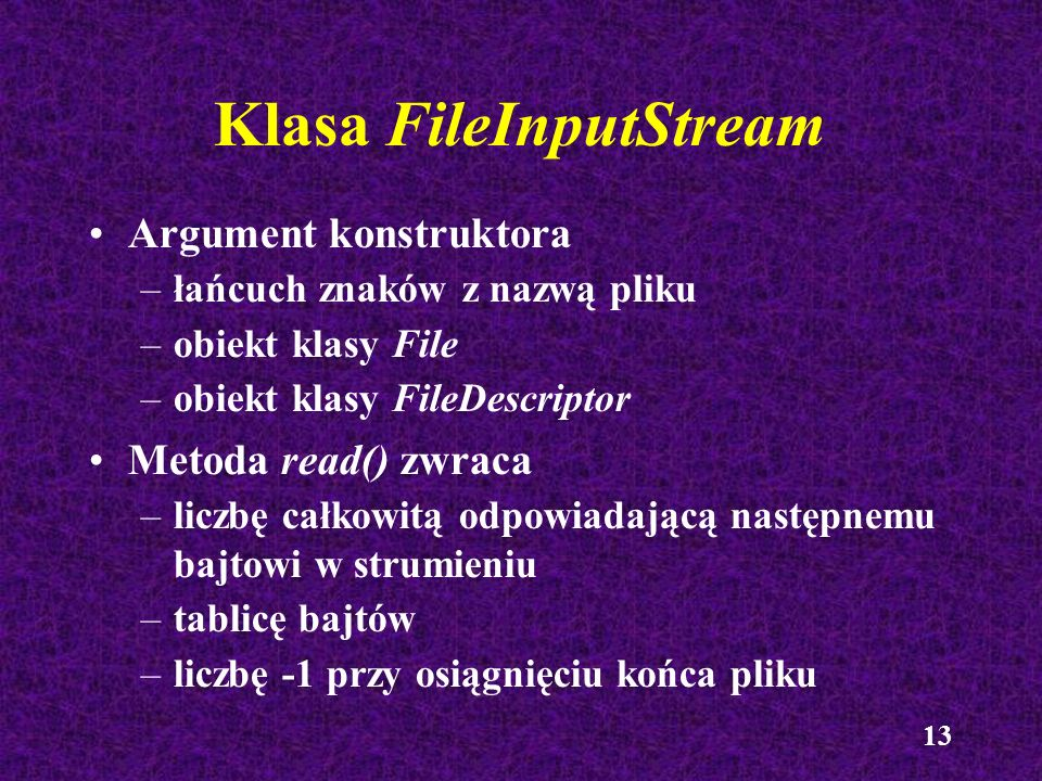 Klasa FileInputStream