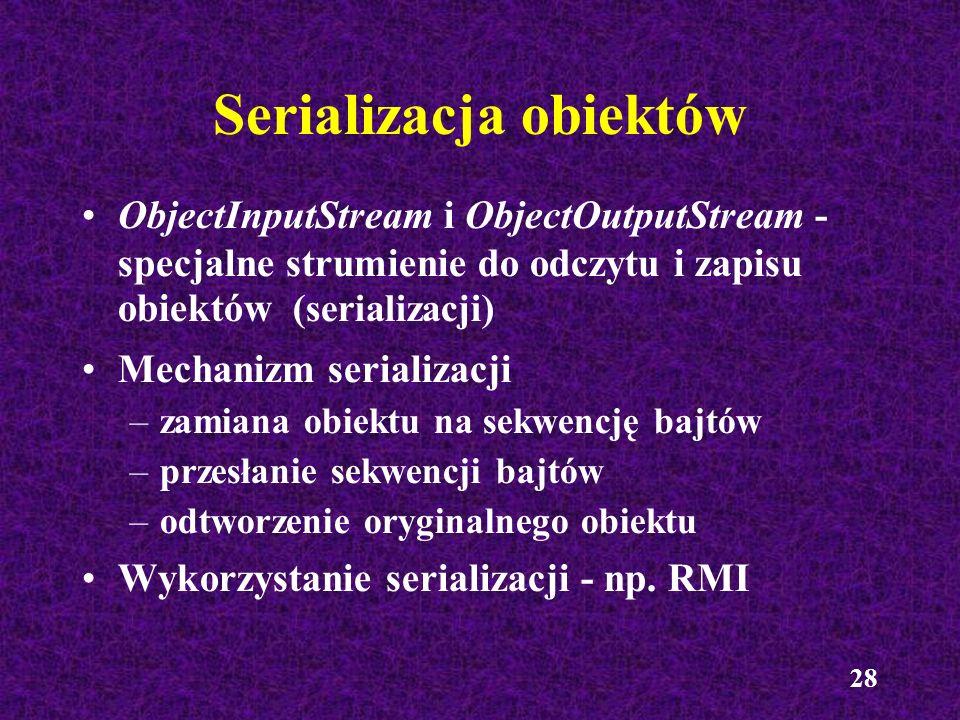 Serializacja obiektów