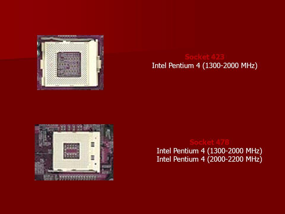 Socket 423 Intel Pentium 4 (1300-2000 MHz)