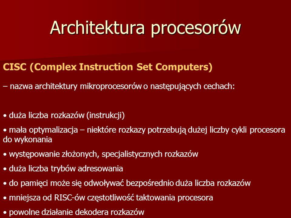 Architektura procesorów