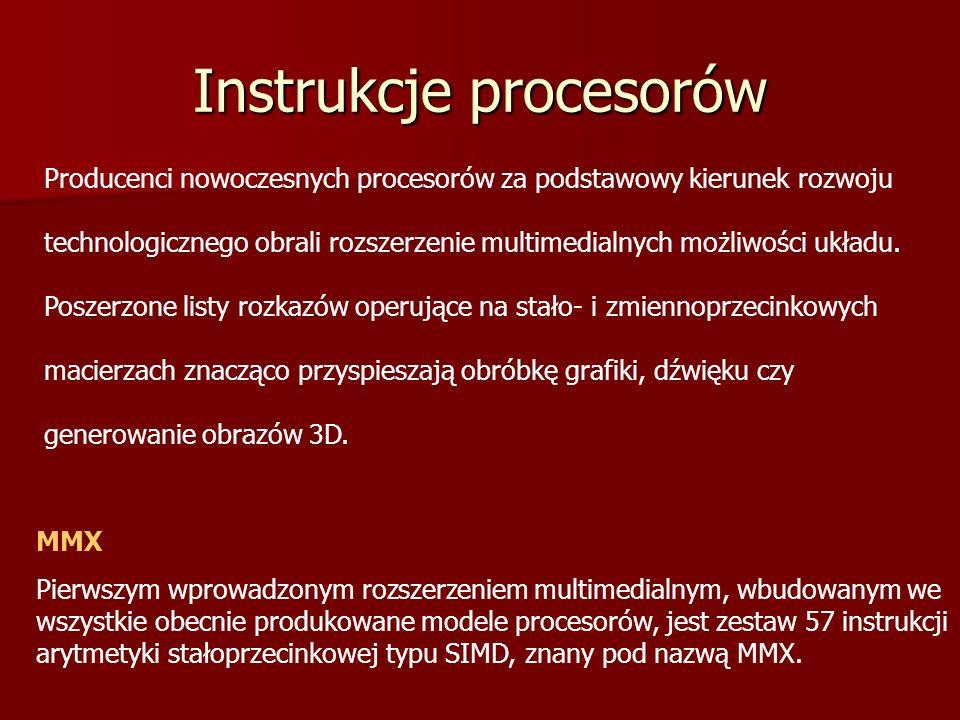 Instrukcje procesorów