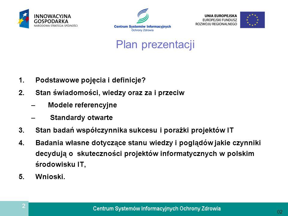 Plan prezentacji Podstawowe pojęcia i definicje