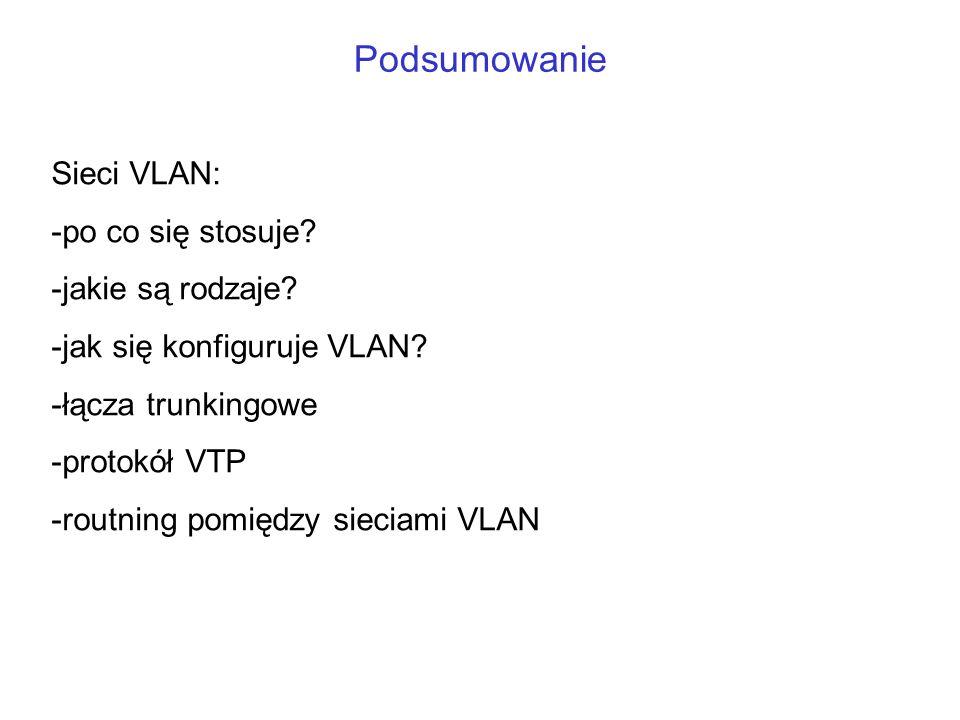 Podsumowanie Sieci VLAN: po co się stosuje jakie są rodzaje