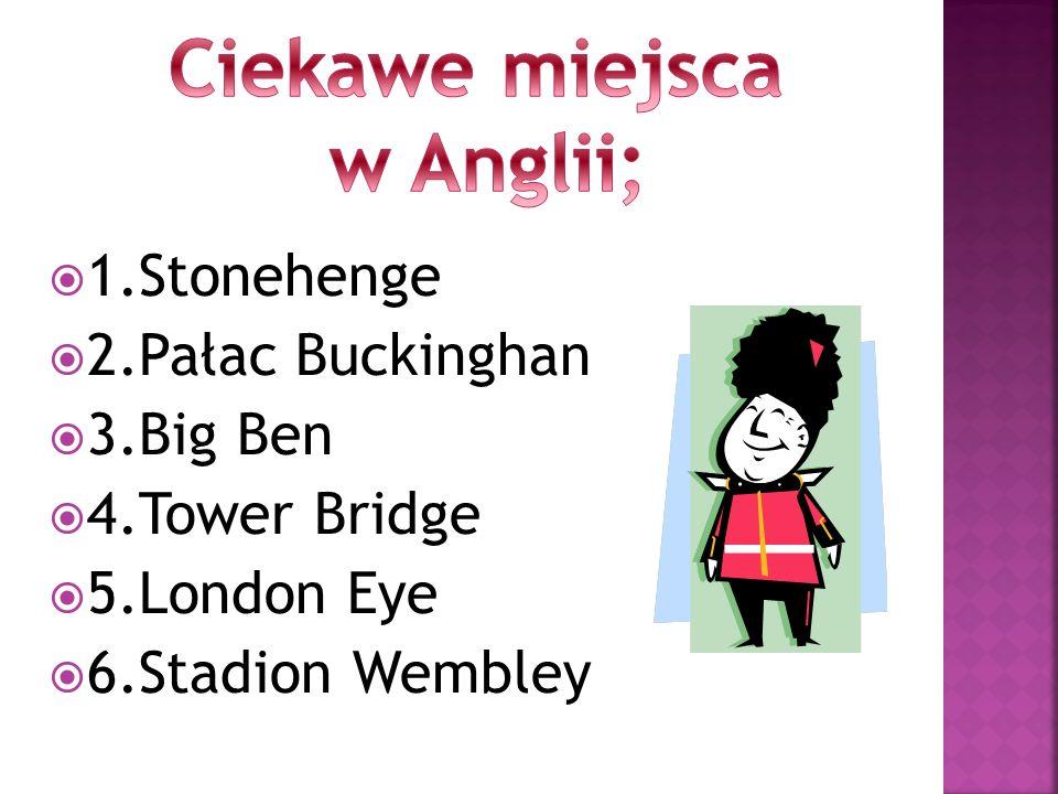 Ciekawe miejsca w Anglii;