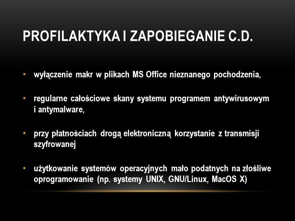 Profilaktyka i zapobieganie C.d.