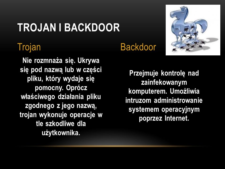 Trojan i Backdoor Trojan Backdoor