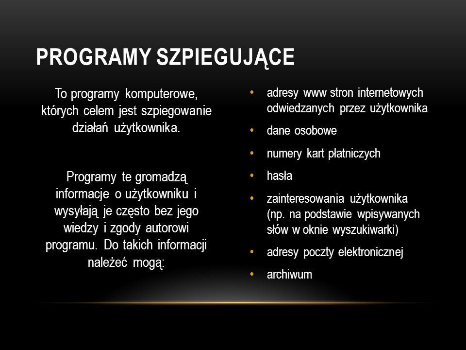 Programy szpiegujące