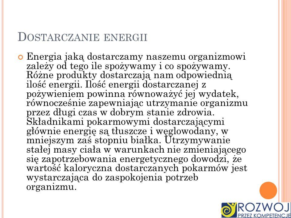 Dostarczanie energii