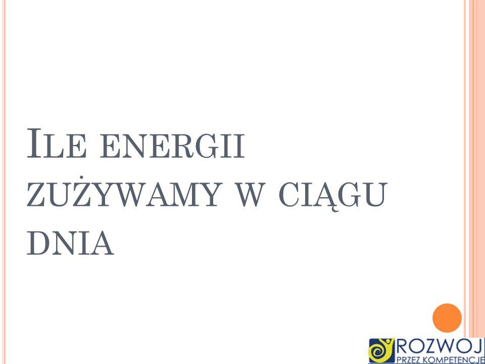 Ile energii zużywamy w ciągu dnia
