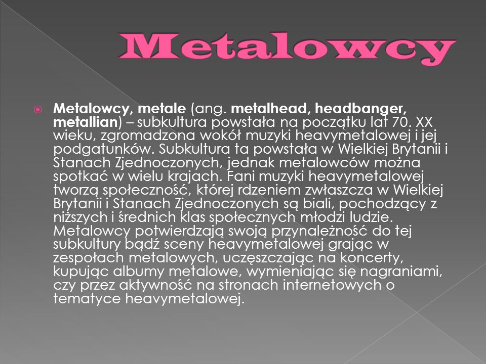 Metalowcy