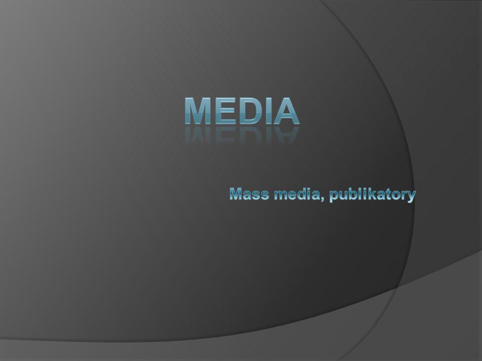 Mass media, publikatory