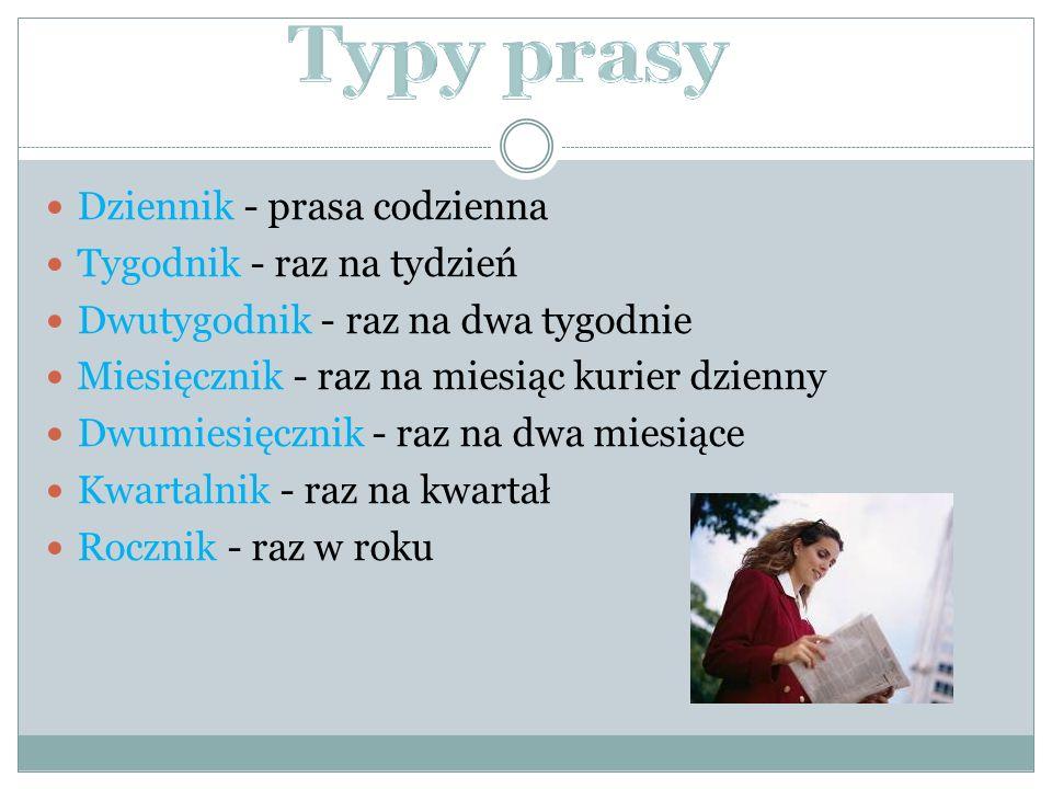 Dziennik - prasa codzienna