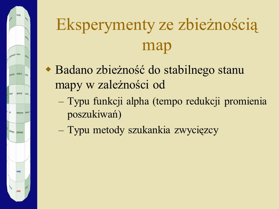 Eksperymenty ze zbieżnością map