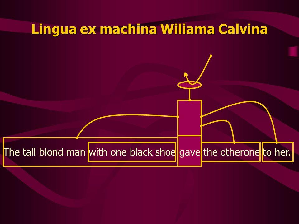 Lingua ex machina Wiliama Calvina