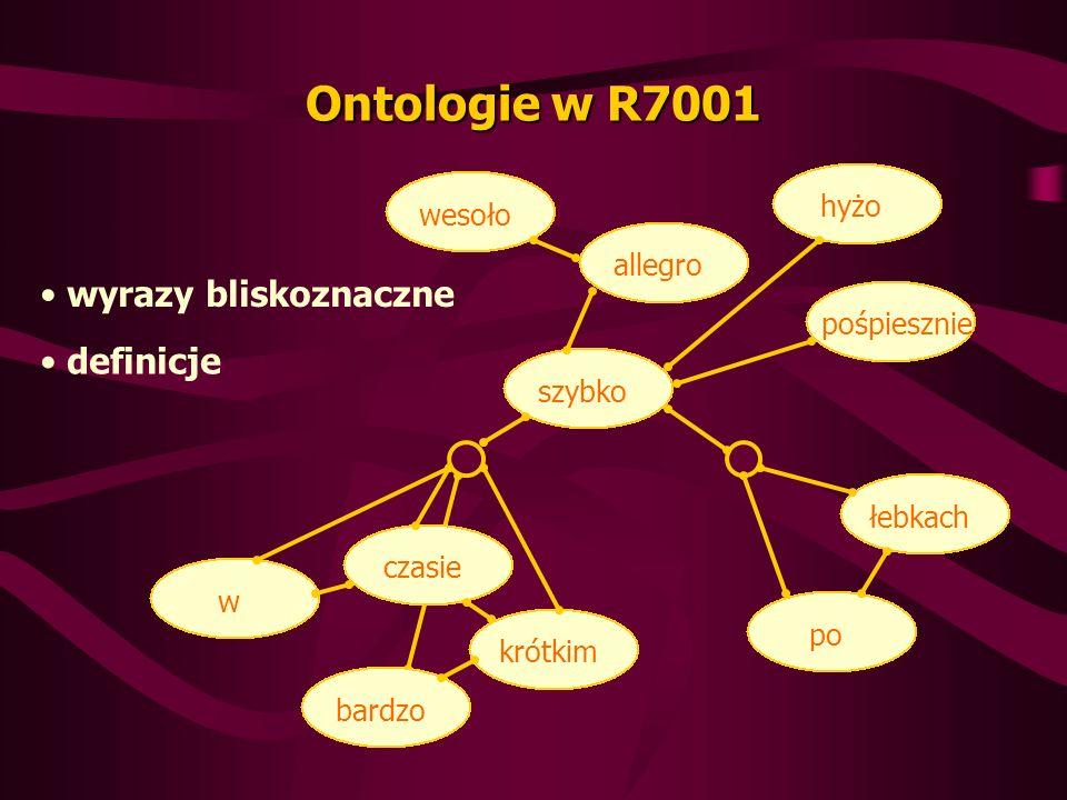 Ontologie w R7001 wyrazy bliskoznaczne definicje hyżo wesoło allegro