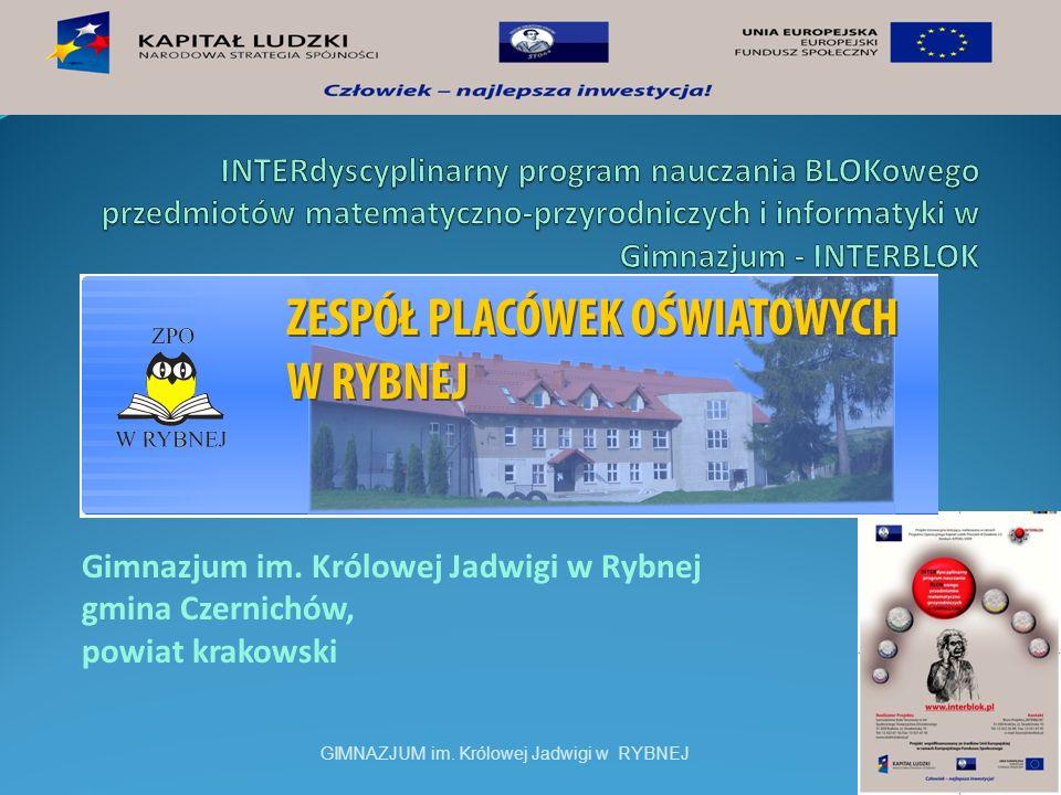 INTERdyscyplinarny program nauczania BLOKowego przedmiotów matematyczno-przyrodniczych i informatyki w Gimnazjum - INTERBLOK