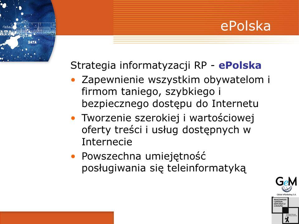 ePolska Strategia informatyzacji RP - ePolska