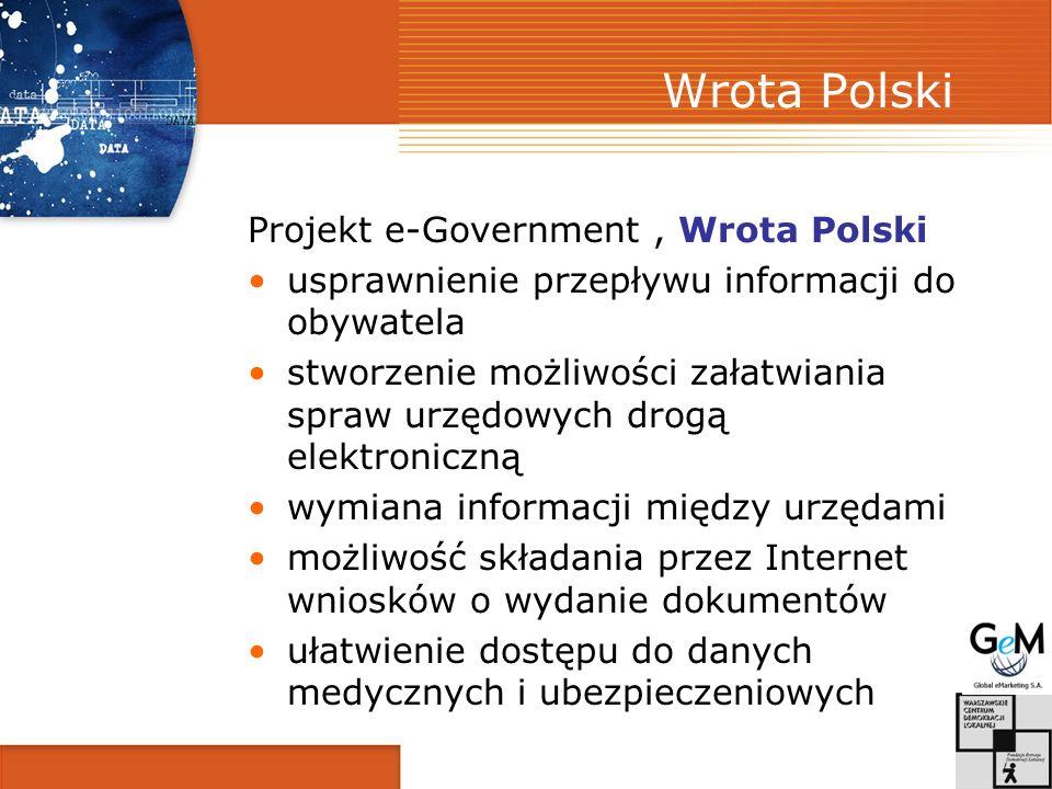 Wrota Polski Projekt e-Government , Wrota Polski