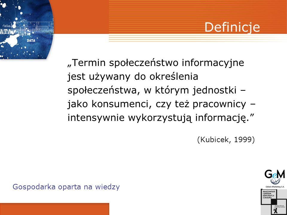 """Definicje """"Termin społeczeństwo informacyjne"""