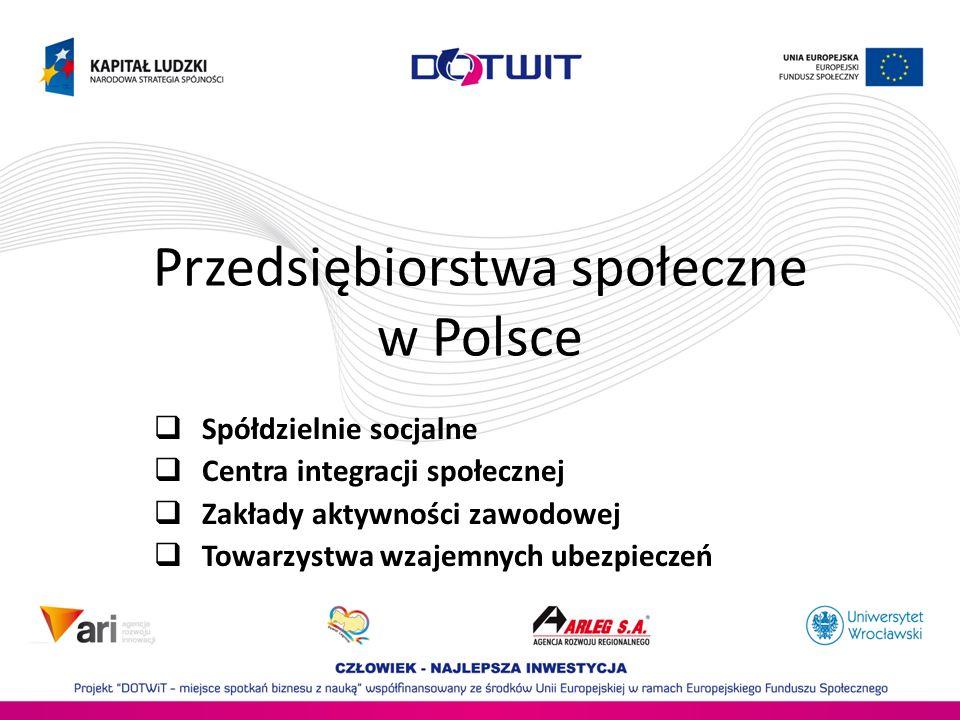 Przedsiębiorstwa społeczne w Polsce