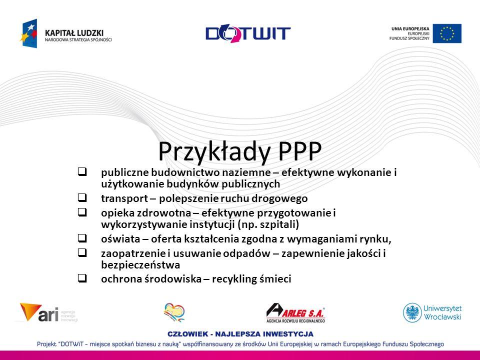 Przykłady PPPpubliczne budownictwo naziemne – efektywne wykonanie i użytkowanie budynków publicznych.