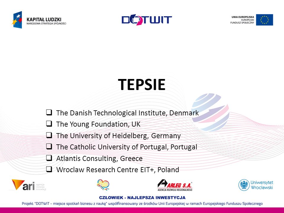 TEPSIE The Danish Technological Institute, Denmark