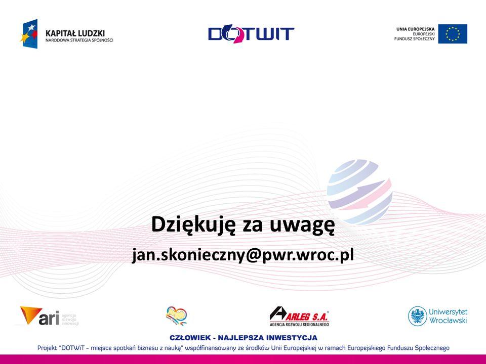 Dziękuję za uwagę jan.skonieczny@pwr.wroc.pl