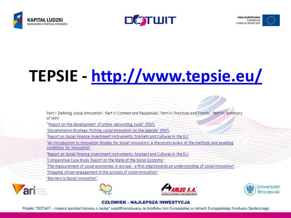 TEPSIE - http://www.tepsie.eu/