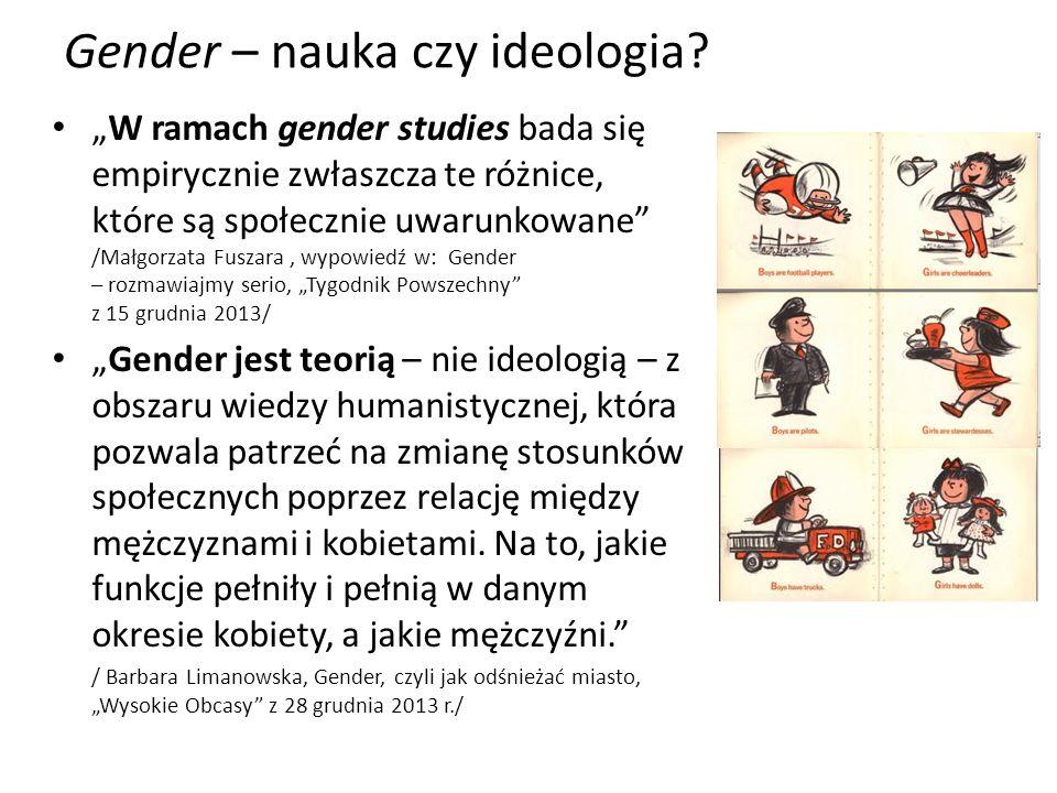 Gender – nauka czy ideologia