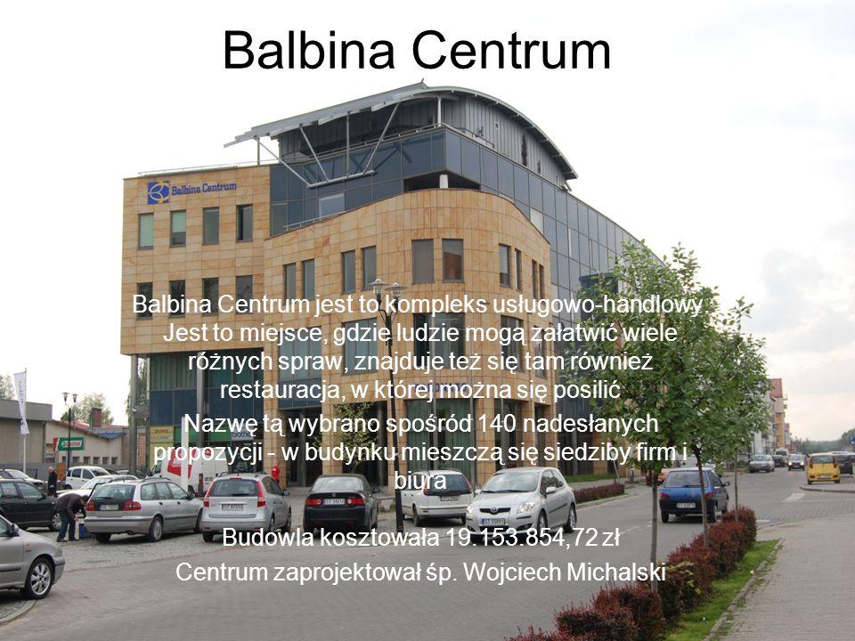 Centrum zaprojektował śp. Wojciech Michalski
