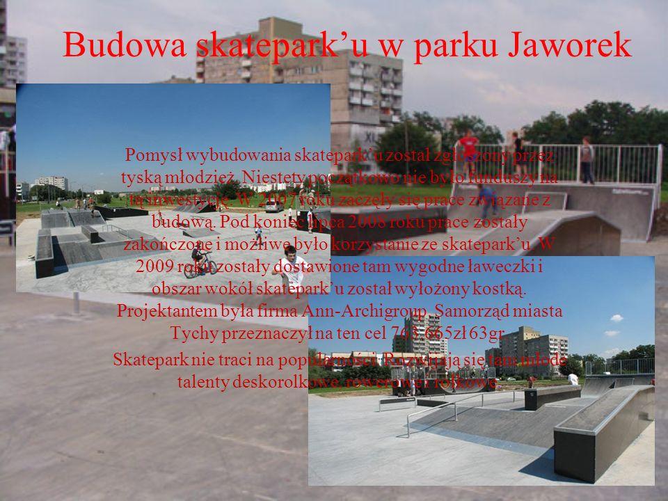 Budowa skatepark'u w parku Jaworek