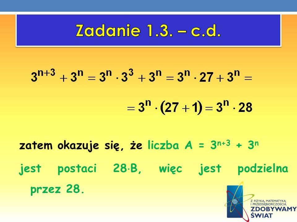 Zadanie 1.3. – c.d.