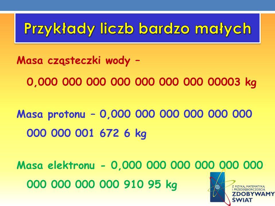 Przykłady liczb bardzo małych
