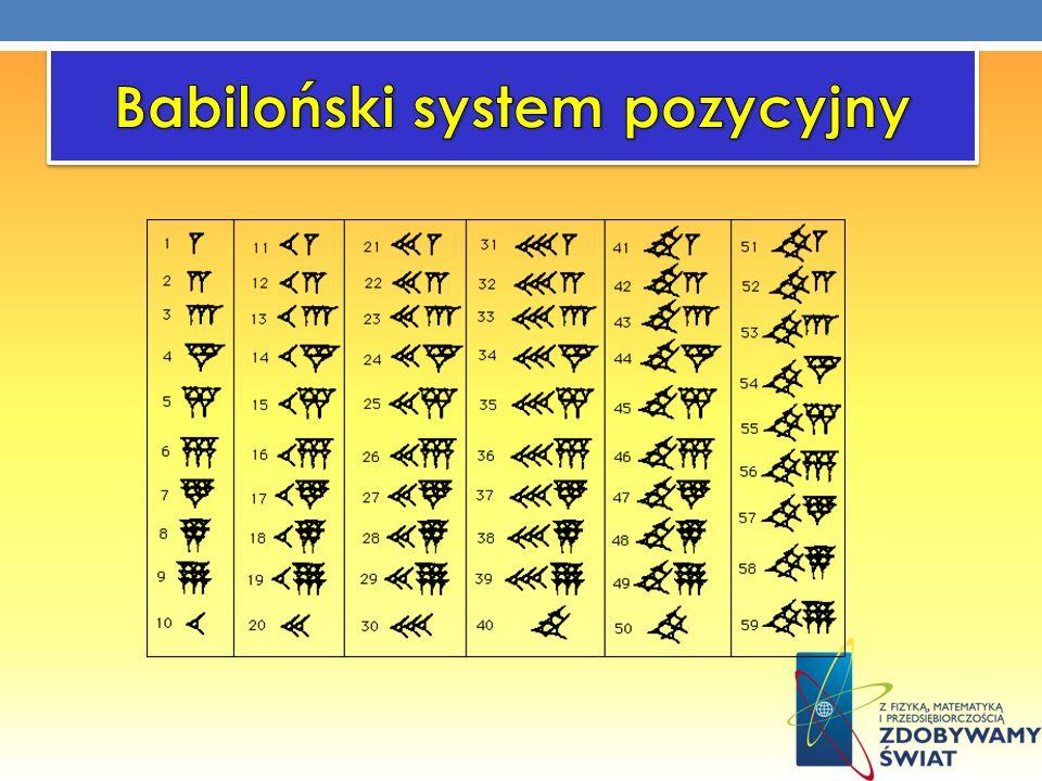 Babiloński system pozycyjny